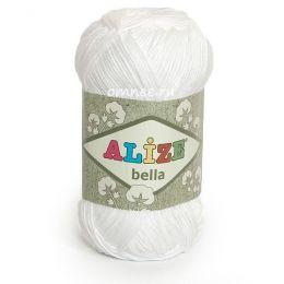Alize Bella 55 белый, 100% хлопок, 50 г. 180 м.
