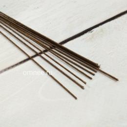 Проволока д/флористики d-0,9мм, 40 см, уп.10 шт., коричневая
