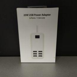Универсальное сетевое з/у 6USB Desktor Charger 20W 4A