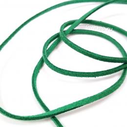 Шнур искусственная замша, 3*1,5мм-1м, цв.: зелёный
