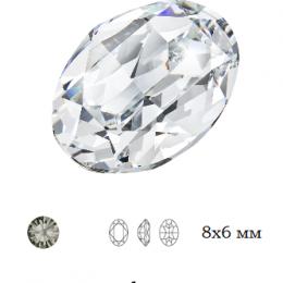 Овал Preciosa Black Diamond / Maxima 8x6 мм 1 шт (Чехия) СП
