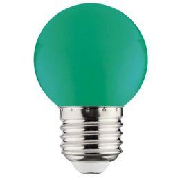 Лампа LED 1W E27 зелена/10/250 Rainbov