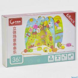 Деревянная шнуровка С 35914 (39) 68 элементов, в коробке [Коробка]