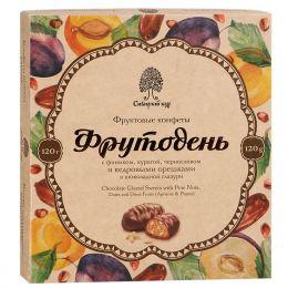 конфеты Фрутодень с кедровым ореш в шок глазури 120г.