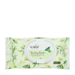 SOLEAF Салфетки для снятия макияжа с целебными травами (20 шт.)