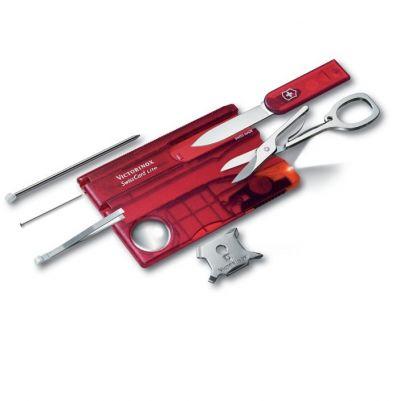 Швейцарская карточка Victorinox SwissCard Lite, красная 0.7300.Т
