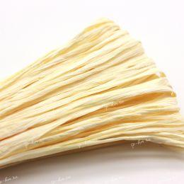 Рафия Cream Matte 5 мм фасовка 1 метр (Индия)