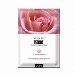 COS.W My Real Skin Rose Facial Mask Тканевая маска для лица с экстрактом розы