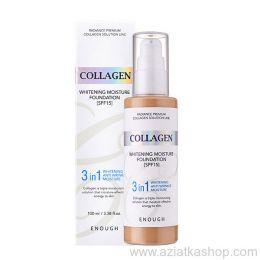 ENOUGH №W13 Collagen Whitening Foundaion Тональная основа с отбеливающим эффектом с коллагеном