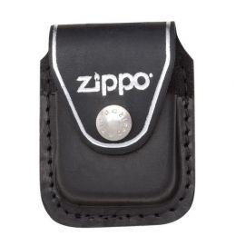 Чехол Zippo для зажигалки из натуральной кожи с клипом черный